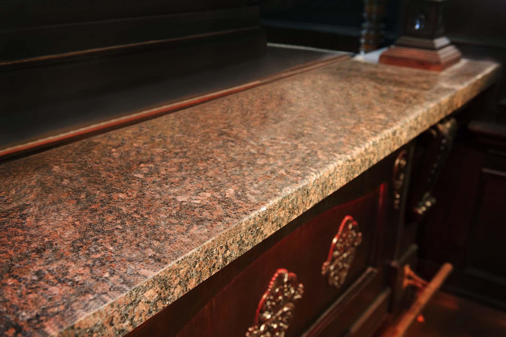 Барплот, облицован с естествен камък - 2