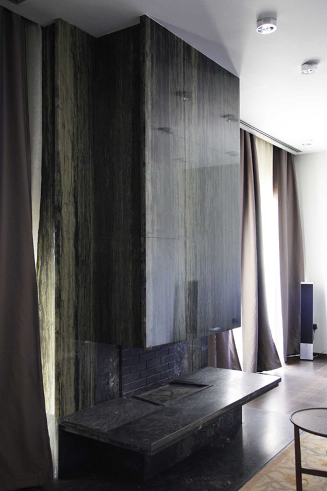 Облицовка на камина в частен дом