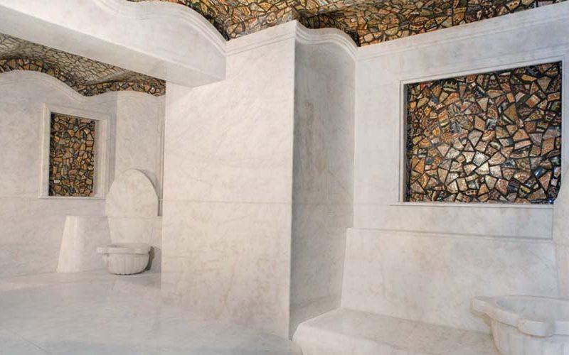 Облицовка от камък за баня на нощен клуб - хамам