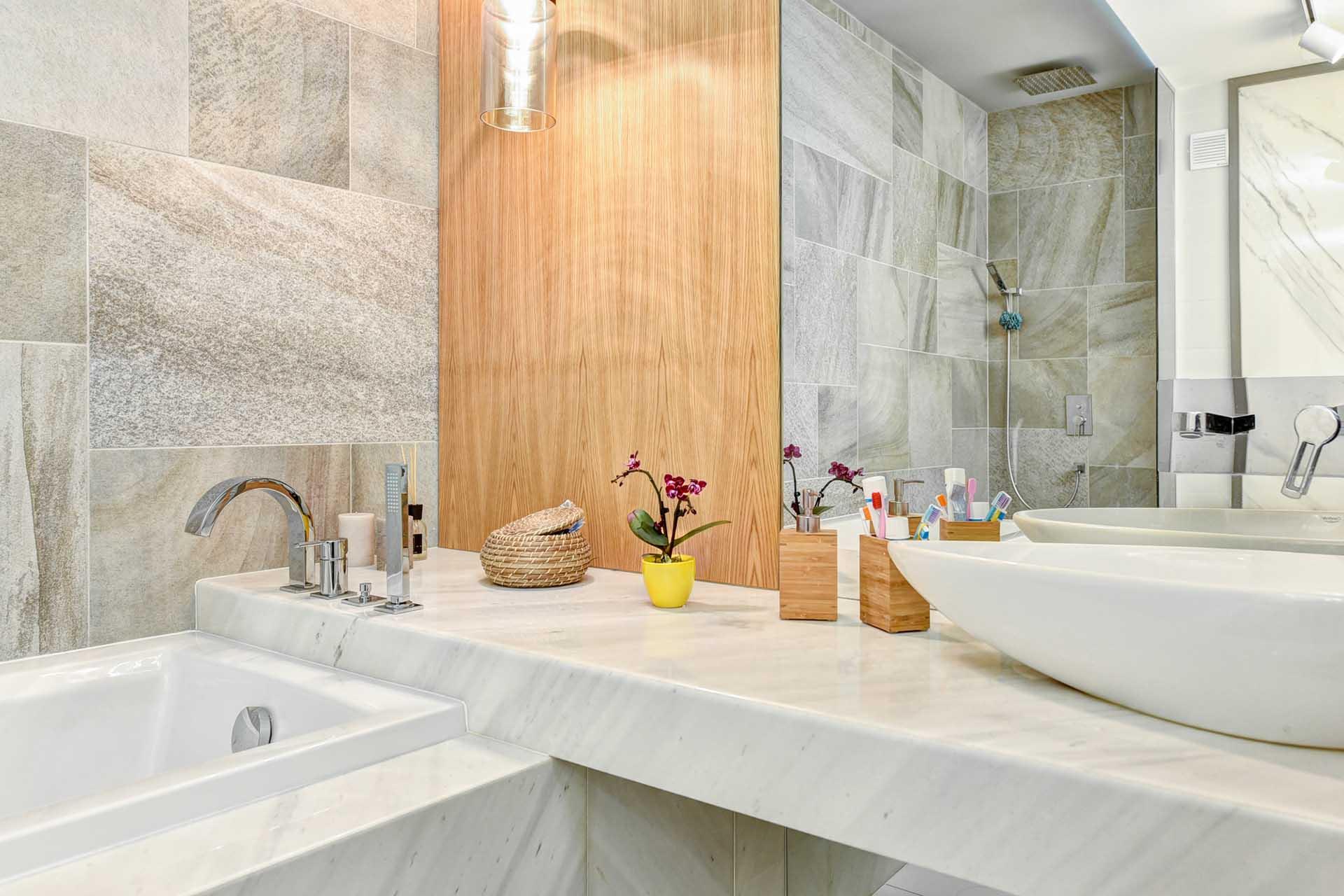 Проект - баня с бял мрамор
