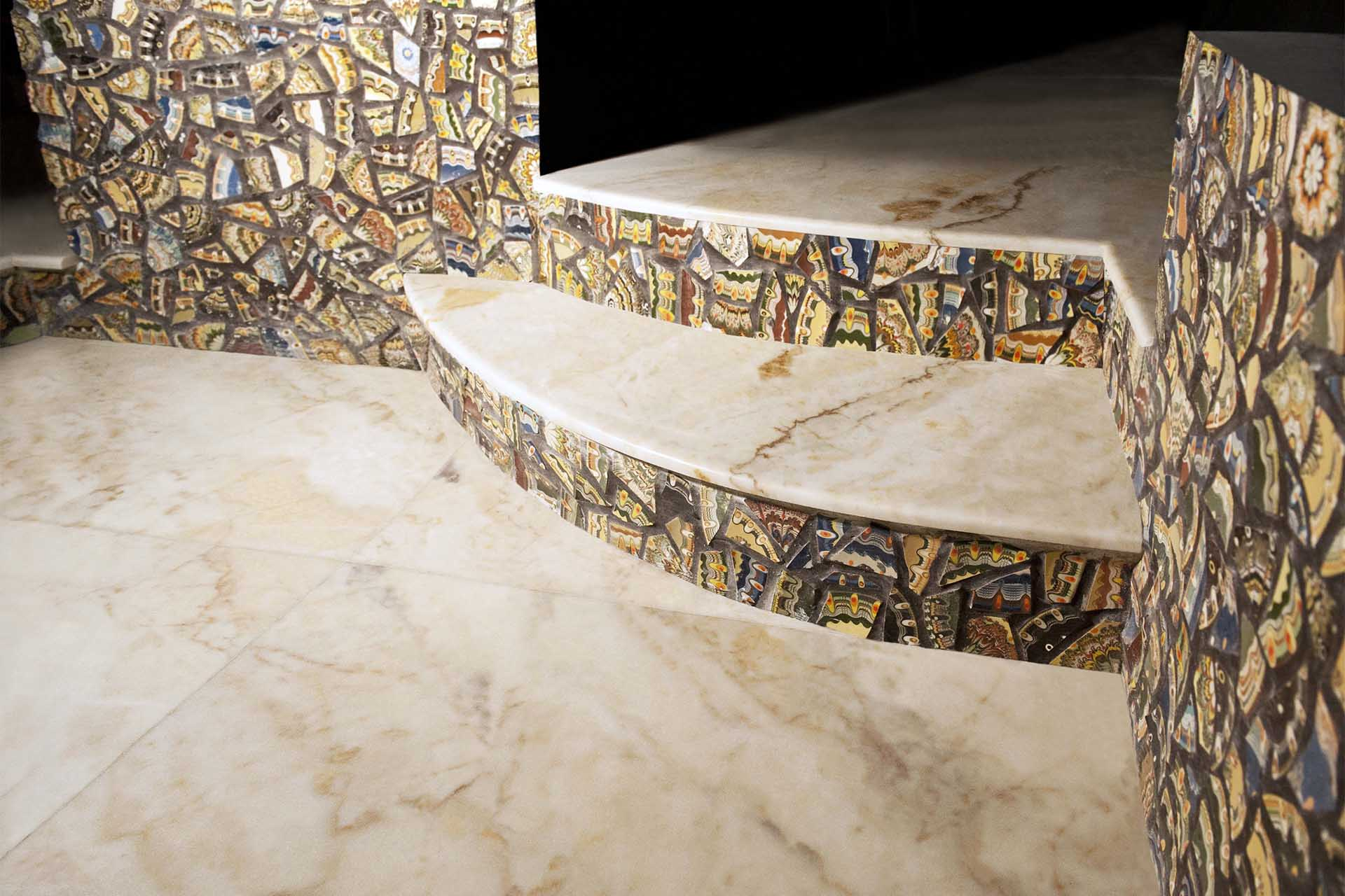 Стъпала - облицовка естествени скали