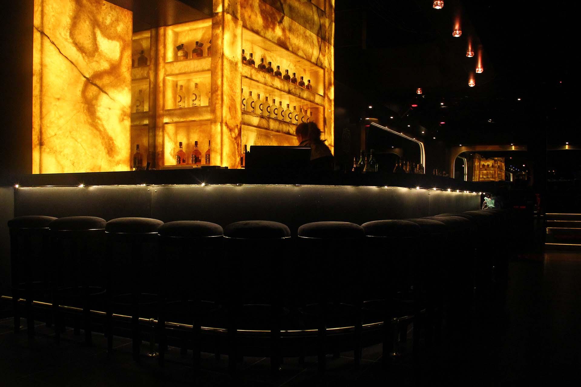 Облицовка на бар с жълт оникс - БИАД